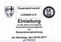 Generalversammlung Feuerwehr Lülsfeld
