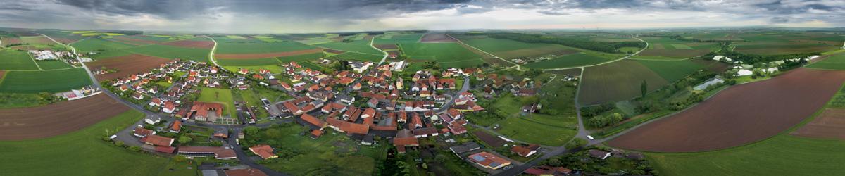 Blick auf Lülsfeld von Norden